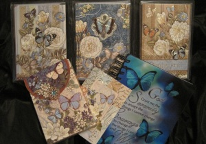 Blue Butterfly Journal and Notecard set